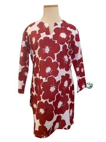 Brick Red Koko Floral KikiSol Tunic
