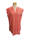 Salmon Fading Dots Sleeveless Top