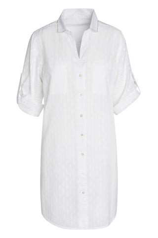 Artisan by KikiSol Textured White Button Down Shirt