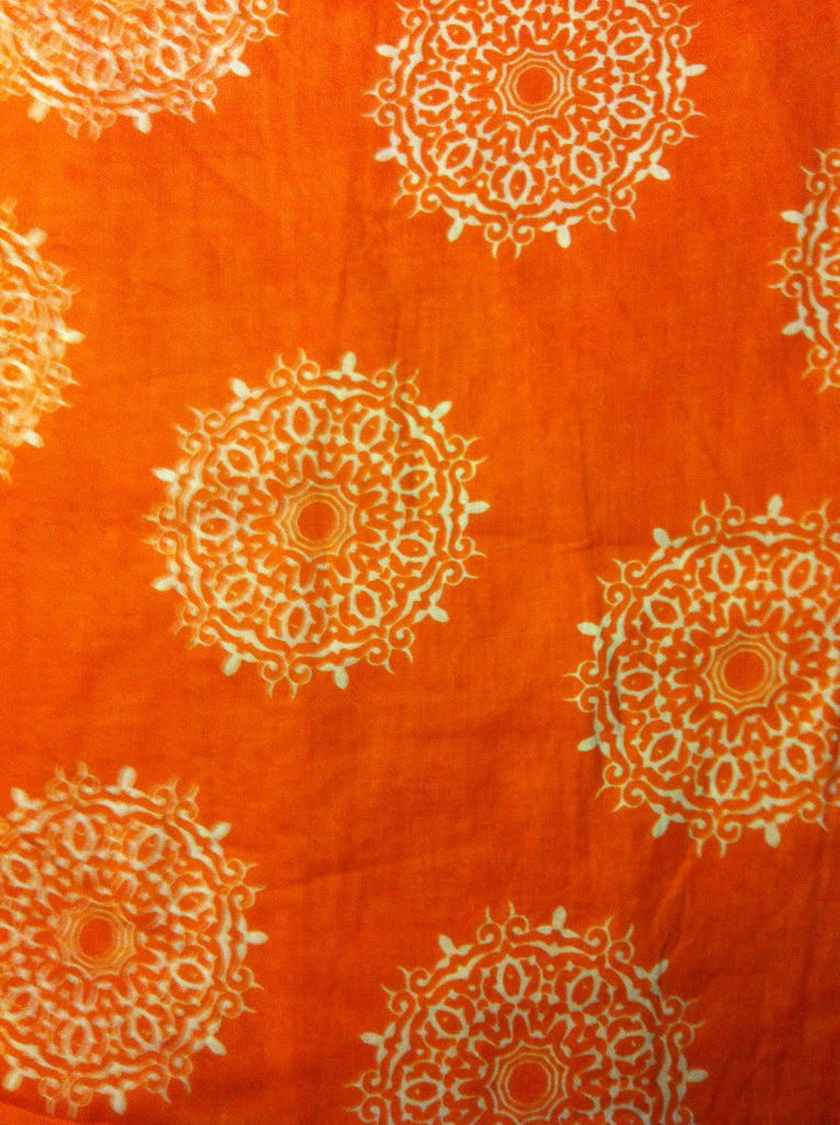 Moroccan Print Summer Tunic Orange