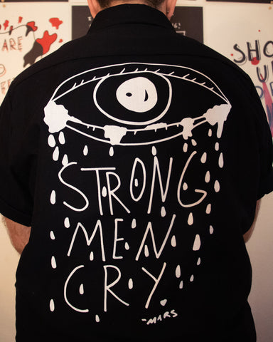 STRONG MEN CRY Button Up