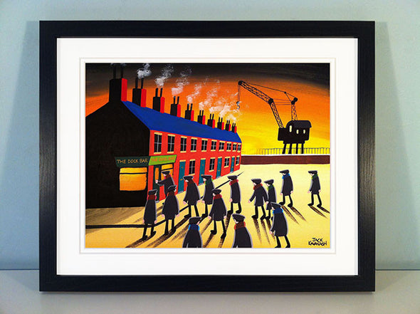 THE DOCK BAR - framed print