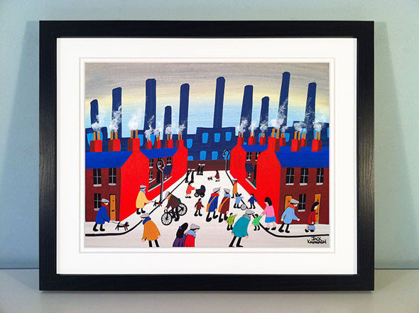 BUSY OUT TODAY - framed print
