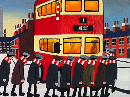 AIRDRIEONIANS - Going To The Match framed print