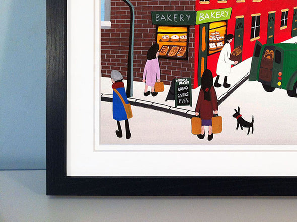 FRESH BREAD TODAY - framed print