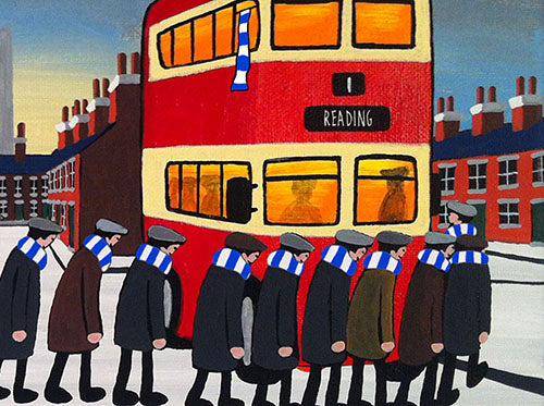READING - Going To The Match framed print