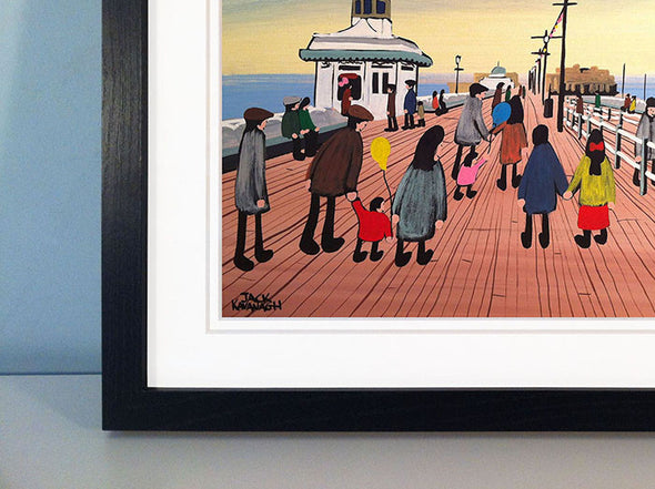 A DAY OUT IN BLACKPOOL - framed print