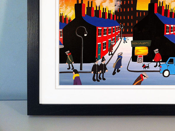 BOBBIES ON THE BEAT - framed print