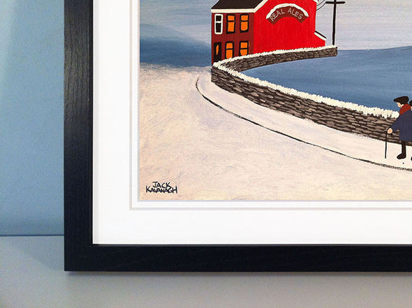 OFF FOR A QUIET DRINK - framed print