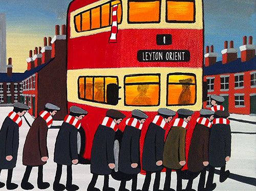 LEYTON ORIENT - Going To The Match framed print