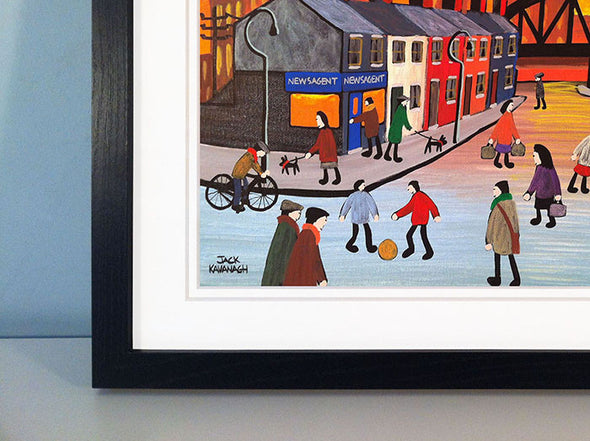 BRIDGE STREET - framed print