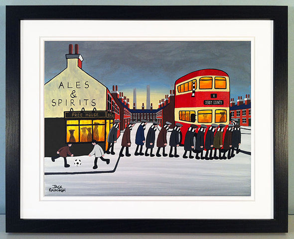 DERBY COUNTY - Going To The Match framed print