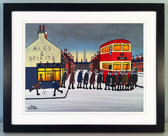 FALKIRK - Going To The Match framed print