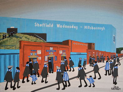 SHEFFIELD WEDNESDAY - Hillsborough Stadium framed print