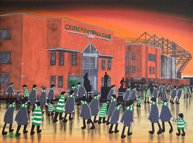 CELTIC - Celtic Park At Night framed print