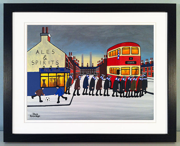 GLENAVON - Going To The Match framed print
