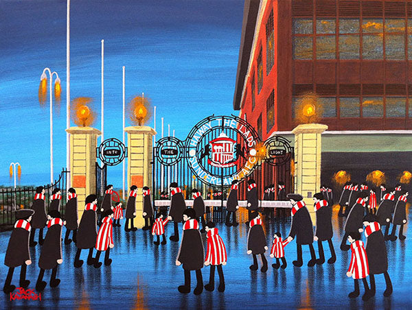 "JACK KAVANAGH /""GOING TO THE MATCH/"" SUNDERLAND FRAMED PRINT"