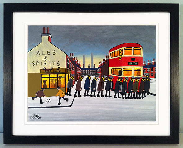 DUMBARTON - Going To The Match framed print