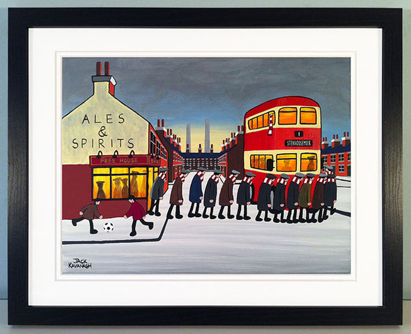 STENHOUSEMUIR - Going To The Match framed print