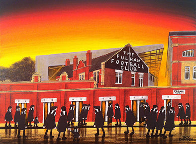 FULHAM - Craven Cottage framed print