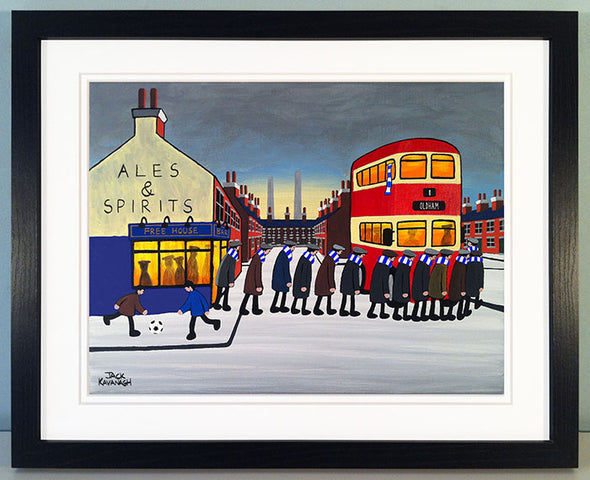OLDHAM ATHLETIC - Going To The Match framed print
