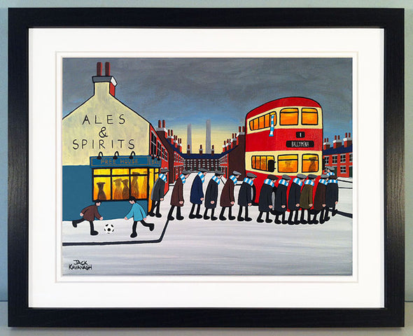 BALLYMENA UNITED - Going To The Match framed print