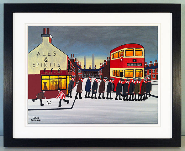 CHELTENHAM TOWN - Going To The Match framed print