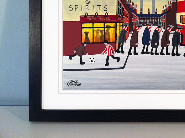 STEVENAGE - Going To The Match framed print