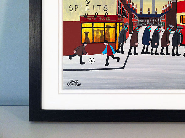 BURNLEY - Going To The Match framed print