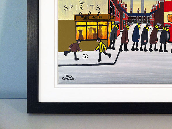 EAST FIFE - Going To The Match framed print