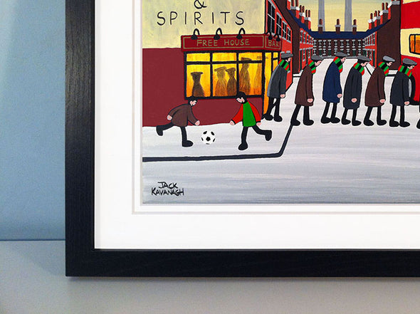 GLENTORAN - Going To The Match framed print