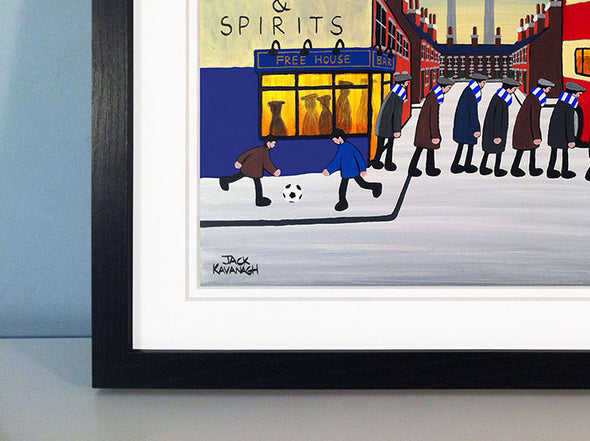 STRANRAER - Going To The Match framed print