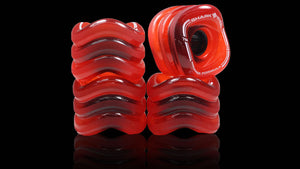 Shark Wheel Sidewinder Formula 70mm 78a rouges transparentes (jeu de 4 roues)
