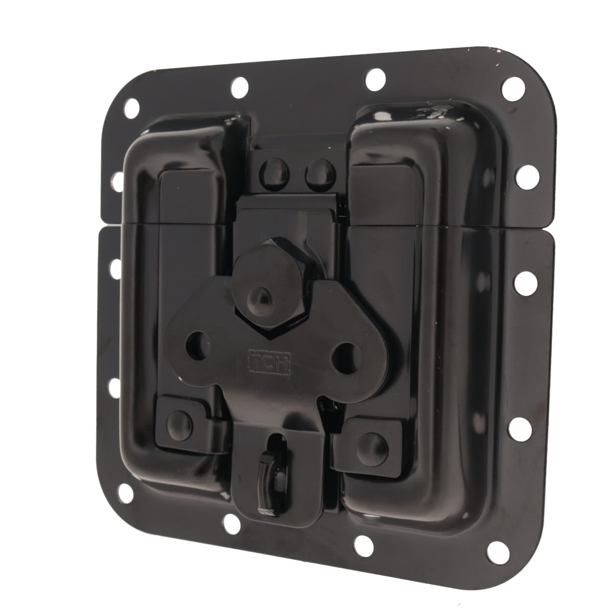 Pad lockable Protective Surface Mount Latch, Black