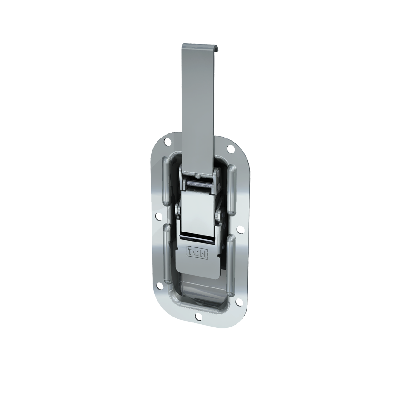 Render of Recessed Lever Drawlatch with Secondary Release