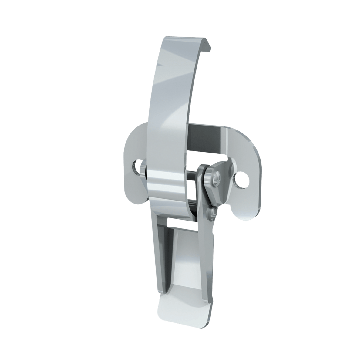 Render of Lever Operated Drawlatch (with flat mounting plate)