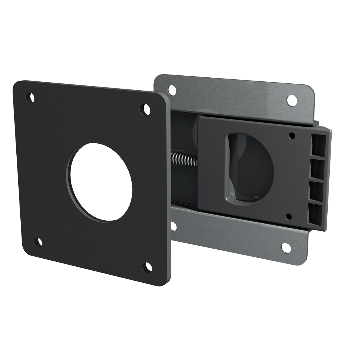 Render of Rear Mount Slam Latch with Spacer
