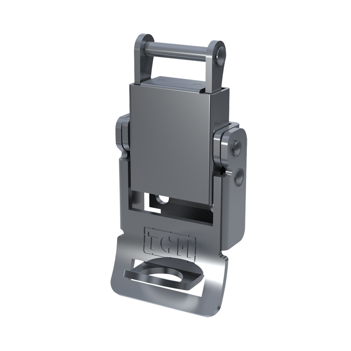 Render of Pad lockable Compression Spring Drawlatch with upswept Lever