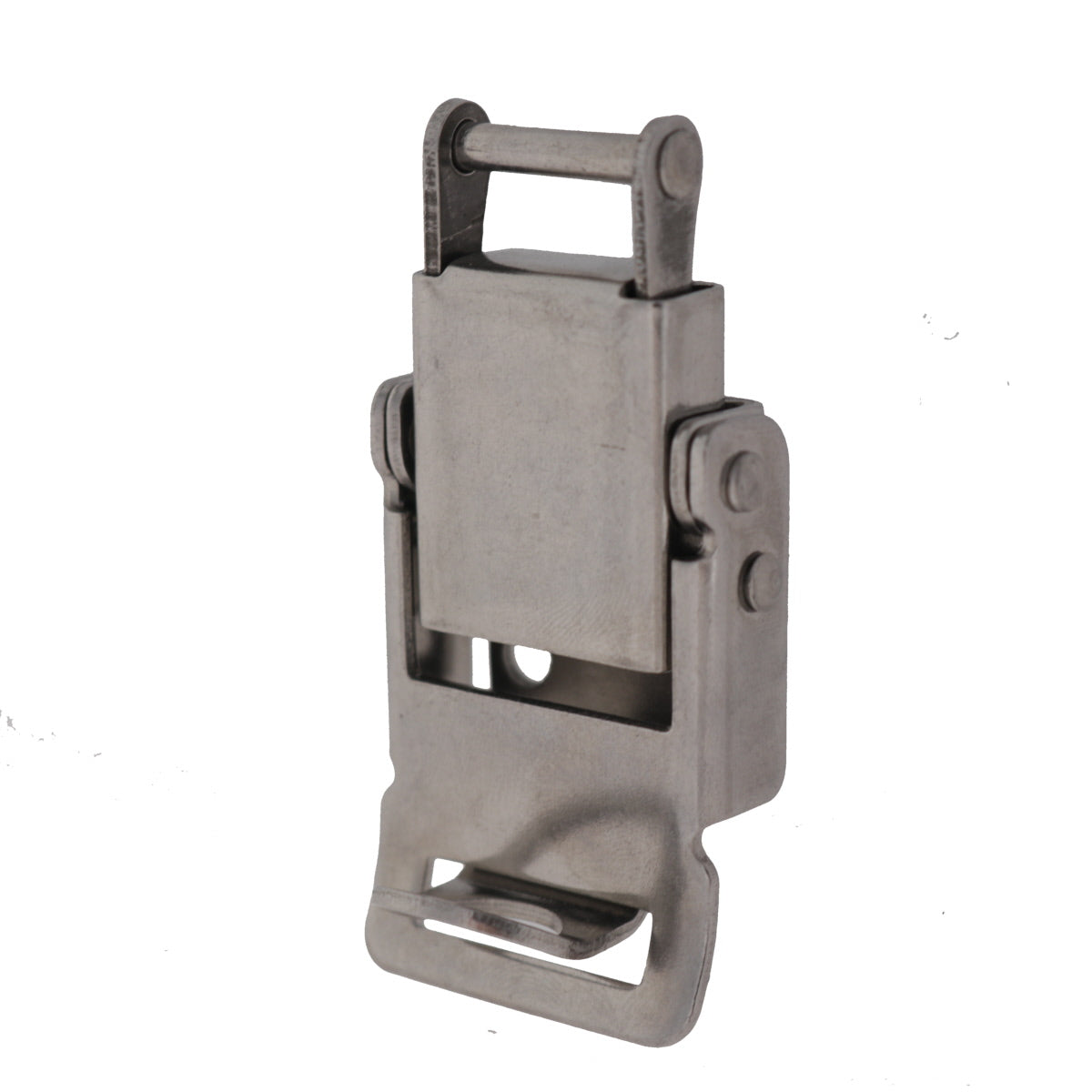 Pad lockable Compression Spring Drawlatch with upswept Lever, 3/4 view