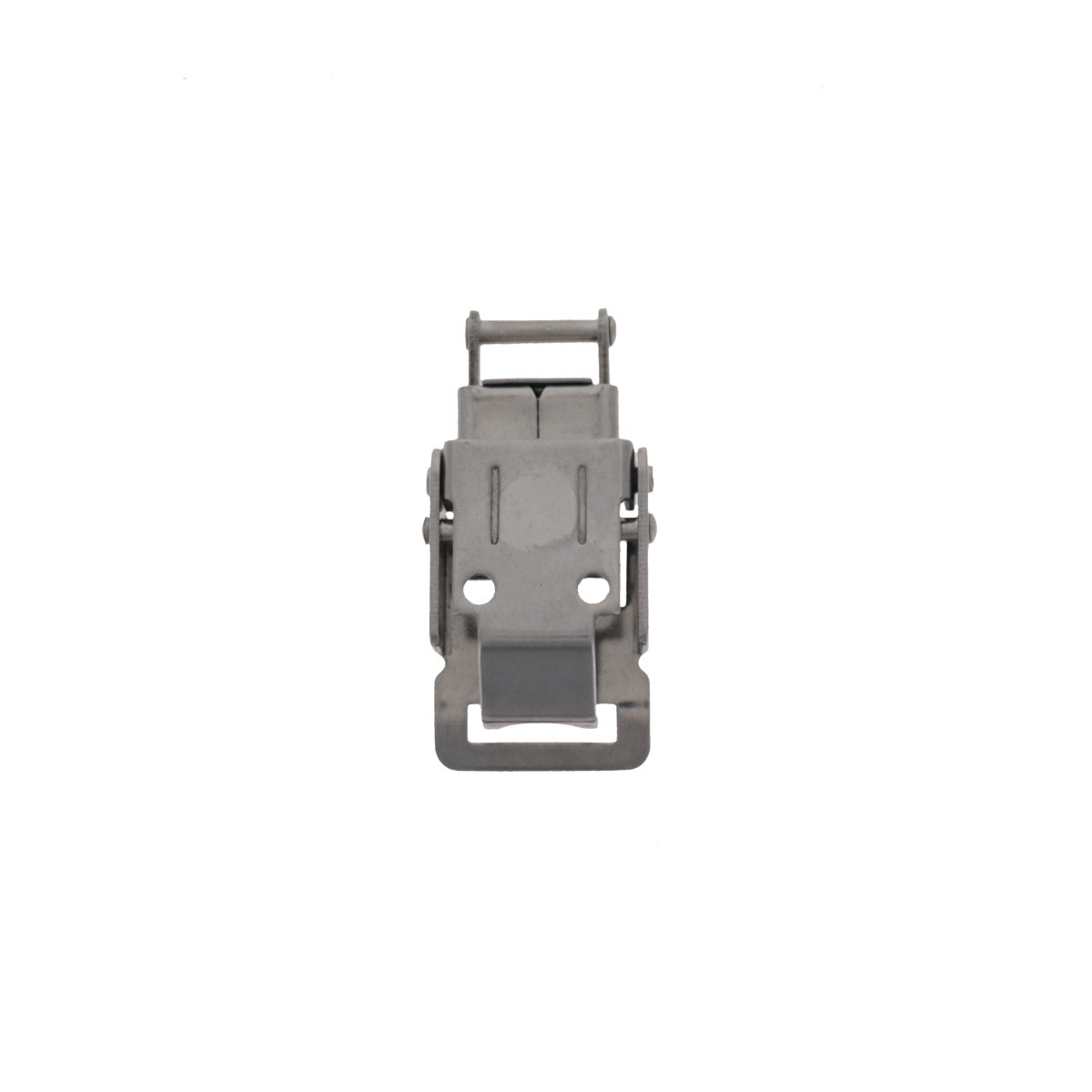 Pad lockable Compression Spring Drawlatch with upswept Lever, back view