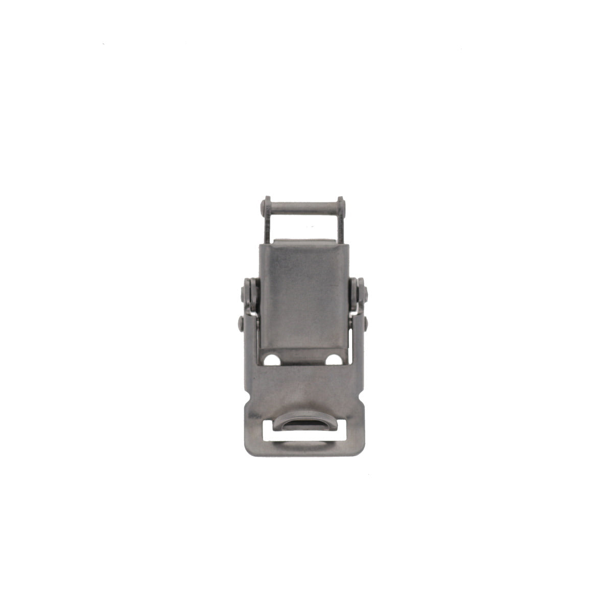 Pad lockable Compression Spring Drawlatch with upswept Lever, Front View