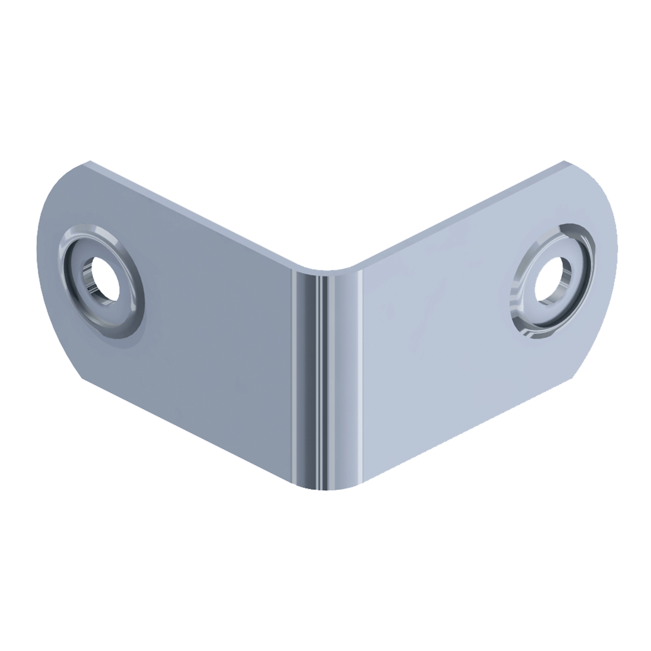 Two-Hole Clamp, 3/4 view