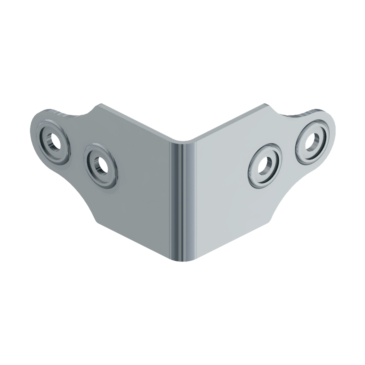 Four-Hole Clamp With Rivet Protectors, 3/4 view