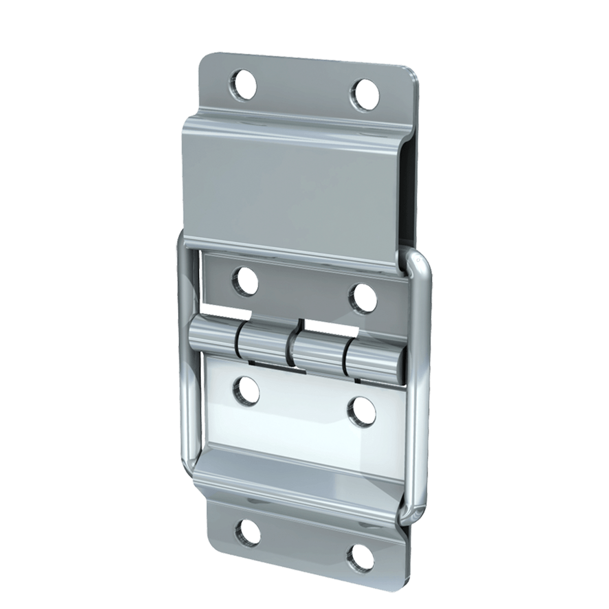 Medium Stop Hinge, 3/4 view