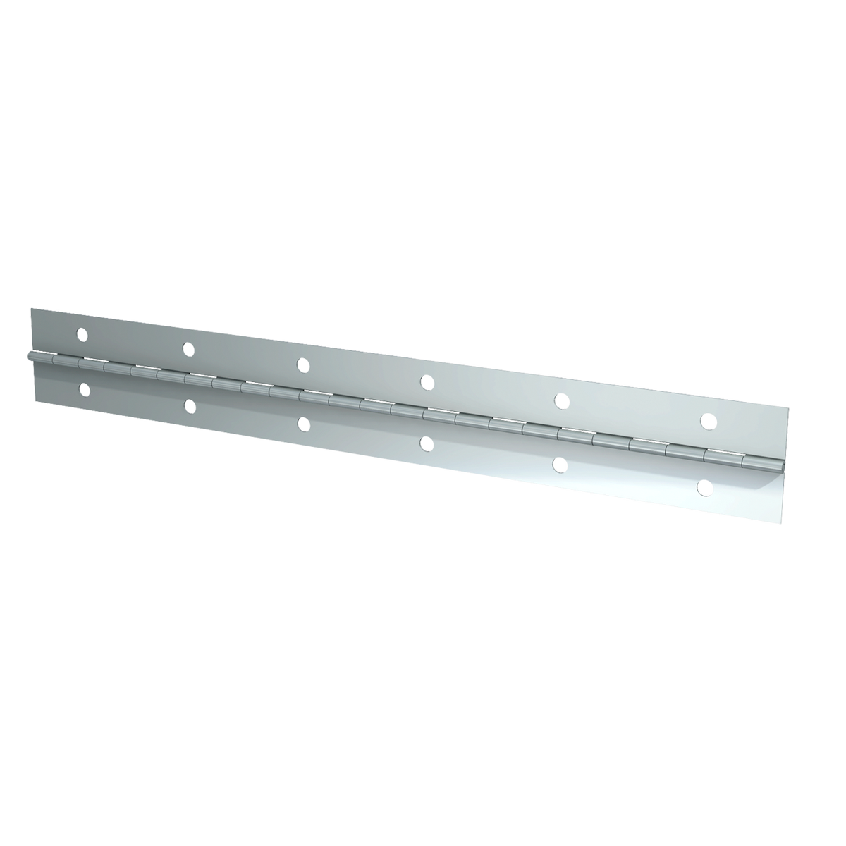"Steel Continuous Hinge - 0.03"" x 1.5"" x 72"" with Zinc Plate & Mounting Holes"