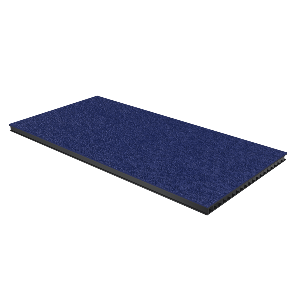 "1/4"" Corrugated Laminate - Dark Blue"