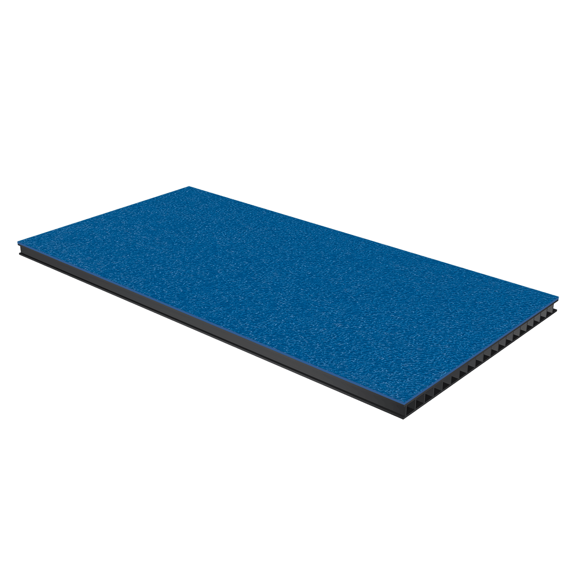 "1/4"" Corrugated Laminate - Medium Blue"