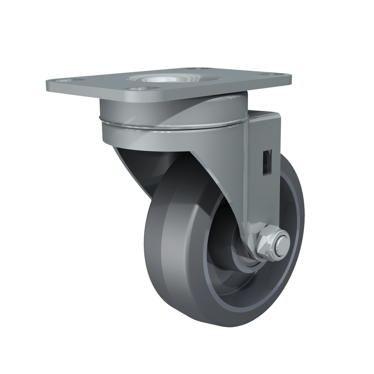"3-1/2"" Swivel with Gray Tire and Aluminum Core"
