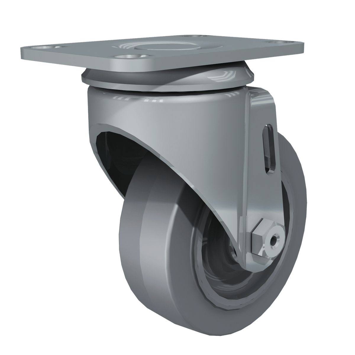 "3-1/2"" Performa Gray Tire Swivel Caster"