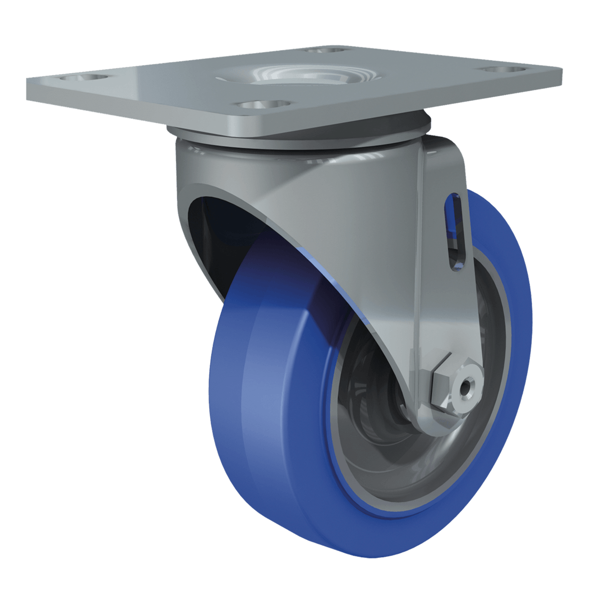 "4"" Performa Blue Tire Swivel Caster"